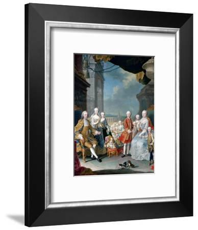 Maria Theresia of Austria and Francis I with their Children-Martin Van Meytens, the Younger-Framed Giclee Print
