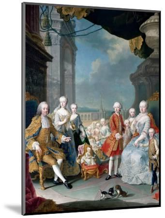 Maria Theresia of Austria and Francis I with their Children-Martin Van Meytens, the Younger-Mounted Giclee Print