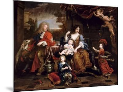 Louis of France, Grand Dauphin (1661-171), with His Family-Pierre Mignard-Mounted Giclee Print