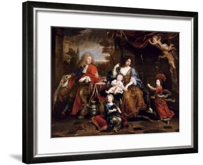 Louis of France, Grand Dauphin (1661-171), with His Family-Pierre Mignard-Framed Giclee Print