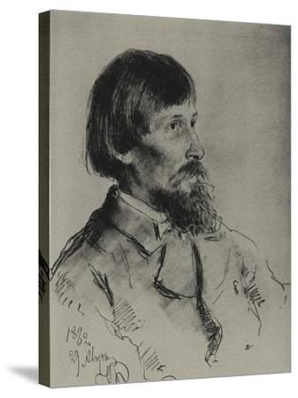 Portrait of the Artist Viktor Vasnetsov (1848-192)-Ilya Yefimovich Repin-Stretched Canvas Print