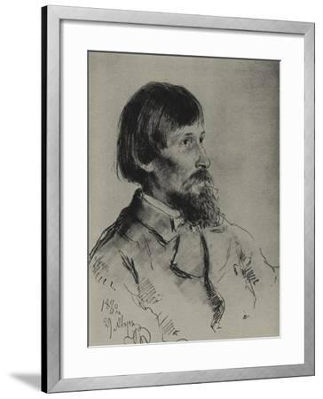Portrait of the Artist Viktor Vasnetsov (1848-192)-Ilya Yefimovich Repin-Framed Giclee Print