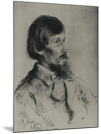 Portrait of the Artist Viktor Vasnetsov (1848-192)-Ilya Yefimovich Repin-Mounted Giclee Print