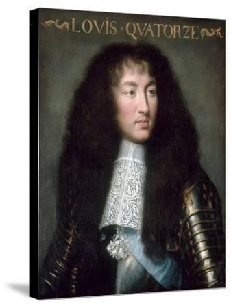 Louis XIV, King of France (1638-171)-Charles Le Brun-Stretched Canvas Print