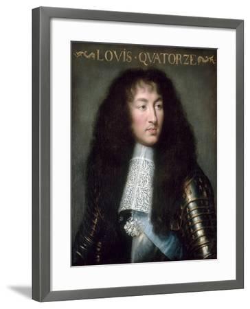 Louis XIV, King of France (1638-171)-Charles Le Brun-Framed Giclee Print