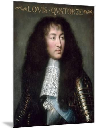 Louis XIV, King of France (1638-171)-Charles Le Brun-Mounted Giclee Print