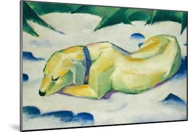 Dog Lying in the Snow-Franz Marc-Mounted Giclee Print