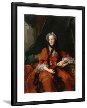 Portrait of Marie Leszczynska, Queen of France (1703-176)-Jean-Marc Nattier-Framed Giclee Print