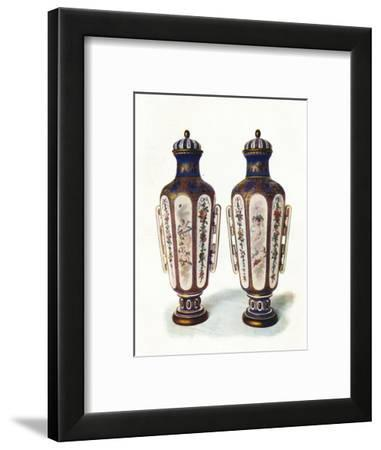 A Pair of Unique Hexagonal-Shaped Sevres Vases' 1906--Framed Giclee Print