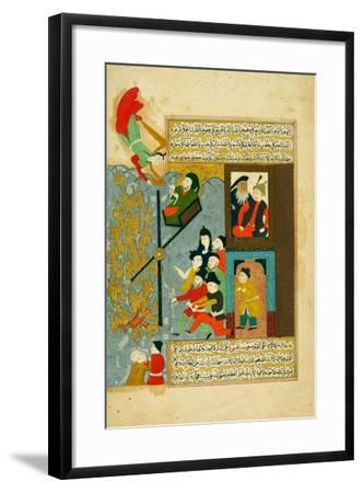 Abraham Cast into the Fire--Framed Giclee Print