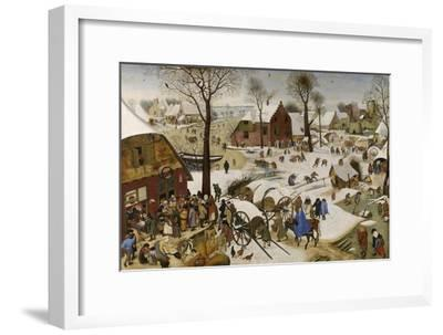 The Census at Bethlehem (The Numbering at Bethlehe), First Third of 17th C-Pieter Brueghel the Younger-Framed Giclee Print