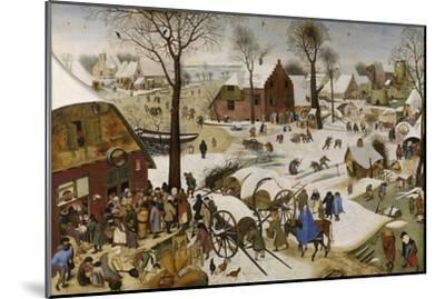 The Census at Bethlehem (The Numbering at Bethlehe), First Third of 17th C-Pieter Brueghel the Younger-Mounted Giclee Print