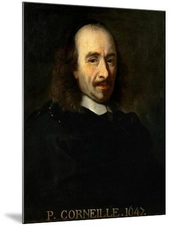 Portrait of Pierre Corneille (1606-168)-Charles Le Brun-Mounted Giclee Print