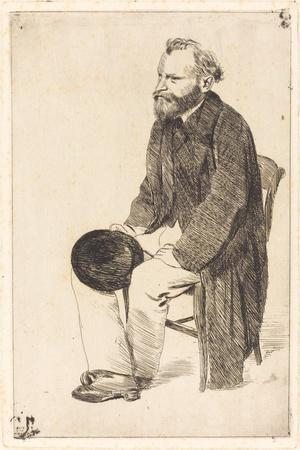 Portrait of the Artist Édouard Manet (1832-188)-Edgar Degas-Stretched Canvas Print