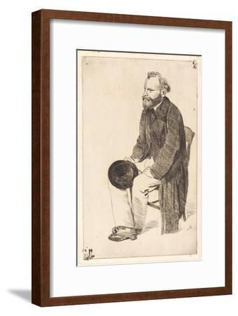 Portrait of the Artist Édouard Manet (1832-188)-Edgar Degas-Framed Giclee Print