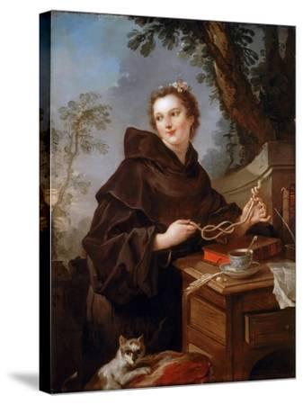 Louise Anne De Bourbon (1695-175), Countess of Charolais-Charles Joseph Natoire-Stretched Canvas Print