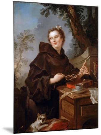 Louise Anne De Bourbon (1695-175), Countess of Charolais-Charles Joseph Natoire-Mounted Giclee Print