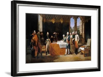 The Preliminaries of Leoben, 17th April 1797-Guillaume Guillon Lethi?re-Framed Giclee Print