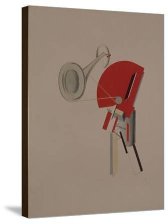 Reciter. Figurine for the Opera Victory over the Sun, 1920-1921-El Lissitzky-Stretched Canvas Print