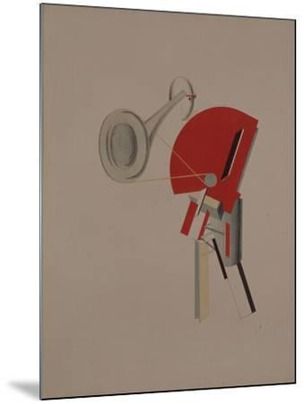 Reciter. Figurine for the Opera Victory over the Sun, 1920-1921-El Lissitzky-Mounted Giclee Print