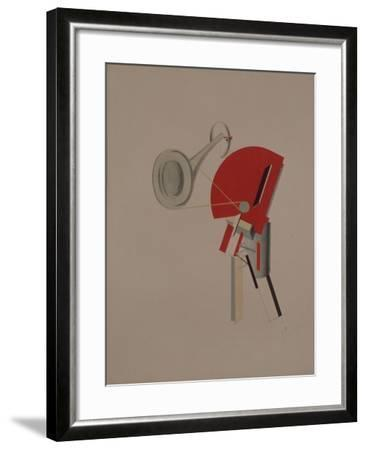 Reciter. Figurine for the Opera Victory over the Sun, 1920-1921-El Lissitzky-Framed Giclee Print