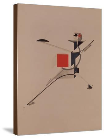 The New. Figurine for the Opera Victory over the Sun by A. Kruchenykh, 1920-1921-El Lissitzky-Stretched Canvas Print