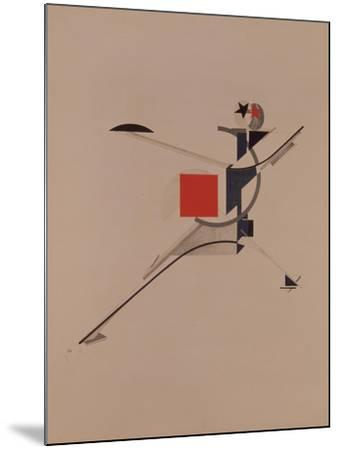 The New. Figurine for the Opera Victory over the Sun by A. Kruchenykh, 1920-1921-El Lissitzky-Mounted Giclee Print