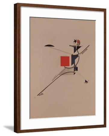 The New. Figurine for the Opera Victory over the Sun by A. Kruchenykh, 1920-1921-El Lissitzky-Framed Giclee Print