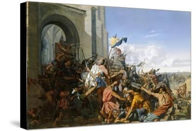 Death of Robert Le Fort in the Battle of Brissarthe, 866-Henri Lehmann-Stretched Canvas Print