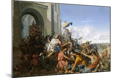 Death of Robert Le Fort in the Battle of Brissarthe, 866-Henri Lehmann-Mounted Giclee Print