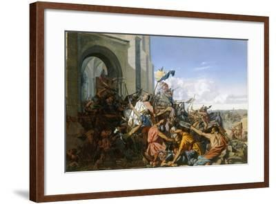 Death of Robert Le Fort in the Battle of Brissarthe, 866-Henri Lehmann-Framed Giclee Print