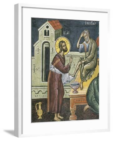 Christ Washing the Feet of the Apostles, 16th Century--Framed Giclee Print