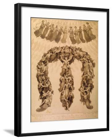 Illustration to the Divine Comedy by Dante Alighieri (Paradiso Canto XVII)-Francesco Scaramuzza-Framed Giclee Print