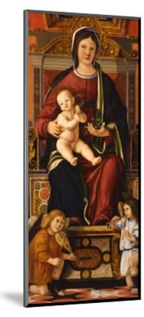 The Virgin and Child Enthroned with Two Musician Angels, 1508-1510-Cristoforo Caselli-Mounted Giclee Print