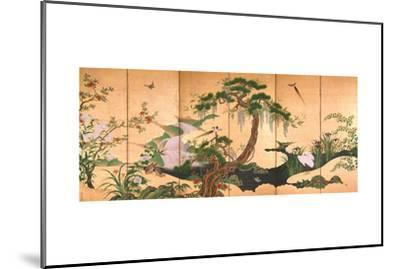 Birds and Flowers of Spring and Summer, Second Half of the 17th C-Kano Eino-Mounted Giclee Print