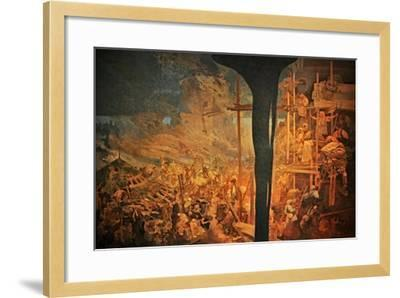 The Defense of Sziget Against the Turks by Nicholas Zrinsky (The Cycle the Slav Epi)-Alphonse Mucha-Framed Giclee Print