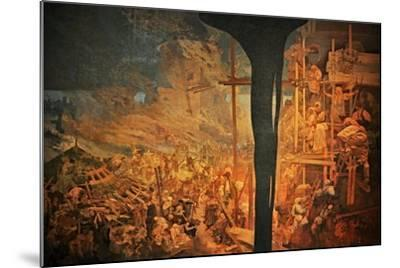 The Defense of Sziget Against the Turks by Nicholas Zrinsky (The Cycle the Slav Epi)-Alphonse Mucha-Mounted Giclee Print