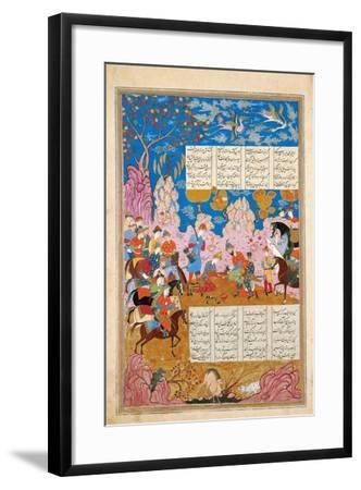 The Slaying of Siyawush (Manuscript Illumination from the Epic Shahname by Ferdows)--Framed Giclee Print