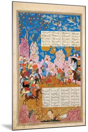 The Slaying of Siyawush (Manuscript Illumination from the Epic Shahname by Ferdows)--Mounted Giclee Print