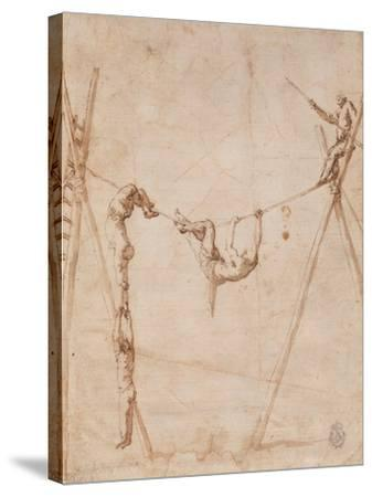 Acrobats on a Rope-Jos? de Ribera-Stretched Canvas Print