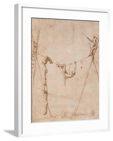 Acrobats on a Rope-Jos? de Ribera-Framed Giclee Print