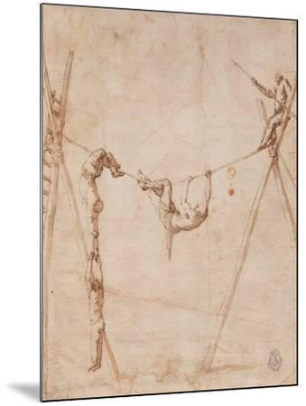 Acrobats on a Rope-Jos? de Ribera-Mounted Giclee Print