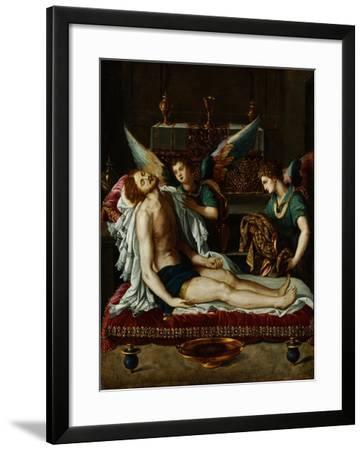 The Body of Christ Anointed by Two Angels-Alessandro Allori-Framed Giclee Print
