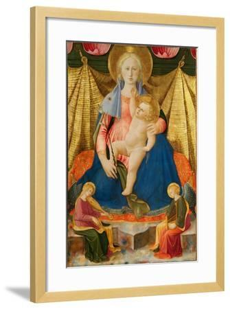 Madonna of Humility with Two Musician Angels, C. 1450-Zanobi Strozzi-Framed Giclee Print