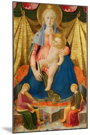 Madonna of Humility with Two Musician Angels, C. 1450-Zanobi Strozzi-Mounted Giclee Print