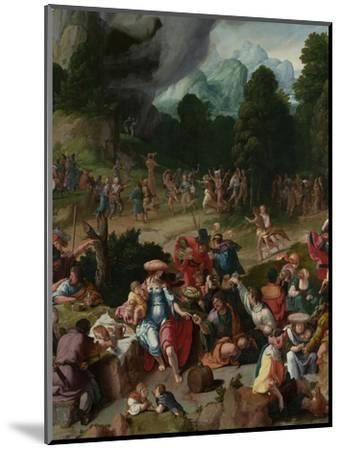 Triptych with the Adoration of the Golden Calf-Lucas van Leyden-Mounted Giclee Print