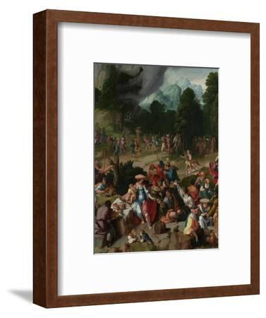 Triptych with the Adoration of the Golden Calf-Lucas van Leyden-Framed Giclee Print