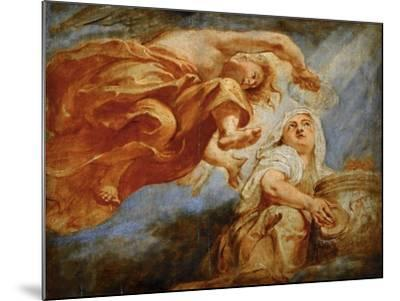 Genius Crowning Religion. Sketch for the Apotheosis of King James I-Peter Paul Rubens-Mounted Giclee Print