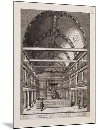 Interior of the Portuguese Synagogue in Amsterdam-Jan Veenhuysen-Mounted Giclee Print