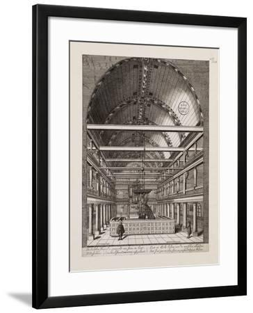 Interior of the Portuguese Synagogue in Amsterdam-Jan Veenhuysen-Framed Giclee Print